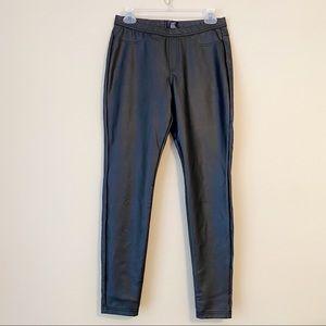 HUE Faux Leather Leggings Black - Medium